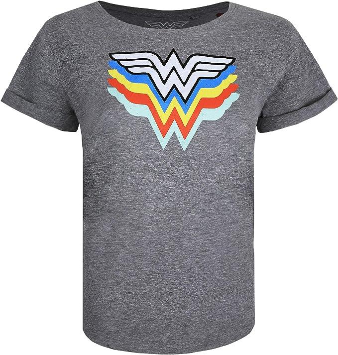 DC Comics Wonder Woman Retro Colours Camiseta para Mujer: Amazon.es: Ropa y accesorios
