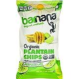 Barnana Organic Plantain Chips, Acapulco Lime, 5 Ounce Bag - Paleo, Vegan, Grain Free Chips