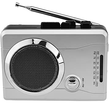 Reproductor de cassette portátil USB radio grabadora de cassette con auriculares