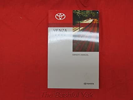 amazon com 2013 toyota venza owners manual toyota automotive rh amazon com toyota venza manual toyota venza manual 2009