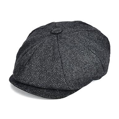 949d30cd21 VOBOOMClassic 8 Panel Wool Tweed Newsboy Gatsby Ivy Cap Golf Cabbie Driving  Hat