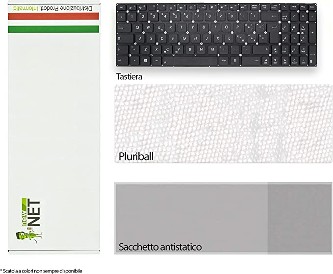 Siliconvalleystore Tastiera per Notebook Asus F552C Series Nera No Frame ITA
