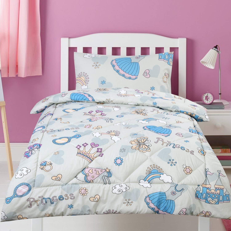 Dreamaker Girls Boys Single Size Kids Child Comforter Bedding Set w/ Pillowcase 210x140cm (Sunshine) JHT Manufacturing