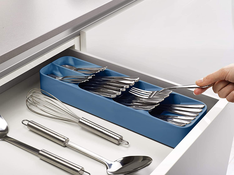 Cielo Azul Talla /única Joseph Joseph 85181 Organizador de cuberter/ía Compacto DrawerStore de la Gama Editions Sky
