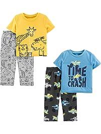 Simple Joys by Carter s Toddler Boys  4-Piece Loose Fit Polyester Pajama Set e12b0bd70