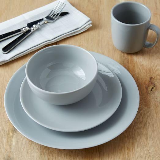 Palette Dinner Plate (Set of 4) - Platinum | west elm