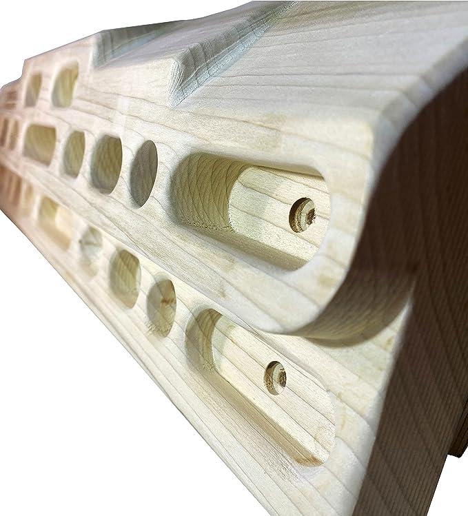 CLIMBOUL ® - Hangboard de Abedul Fabricada en España, Tabla Entrenamiento Escalada   Tabla multipresa Profesional