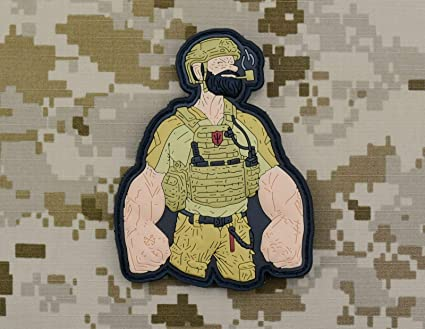 Amazon com: BritKitUSA Popeye The Seal 3D PVC Morale Patch Navy Seal