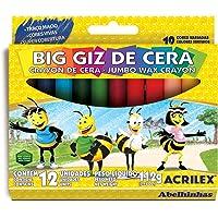 Gizão de Cera (Big Giz) 12 Cores Acrilex