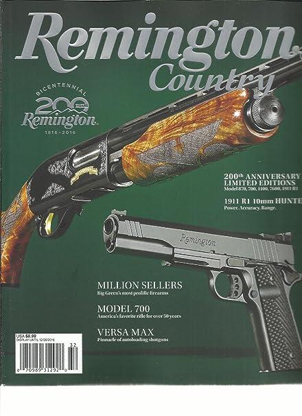 amazon com remington country magazine 2016 bicentennial 200 years