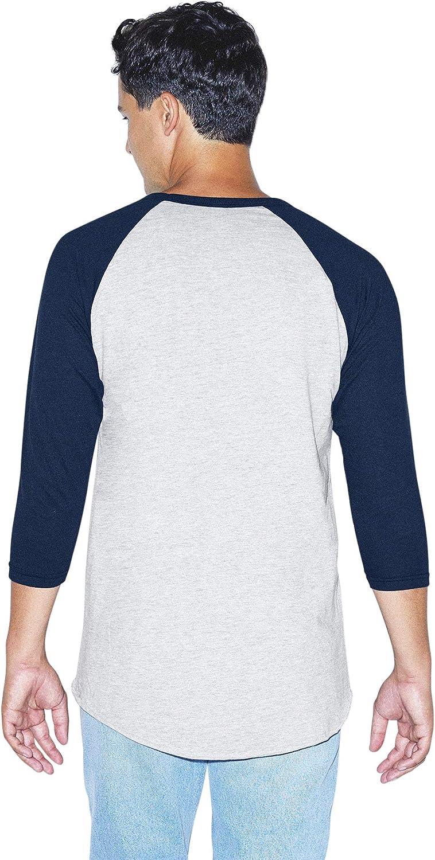 2-Pack T-Shirt American Apparel Mens 50//50 Raglan 3//4 Sleeve T-Shirt