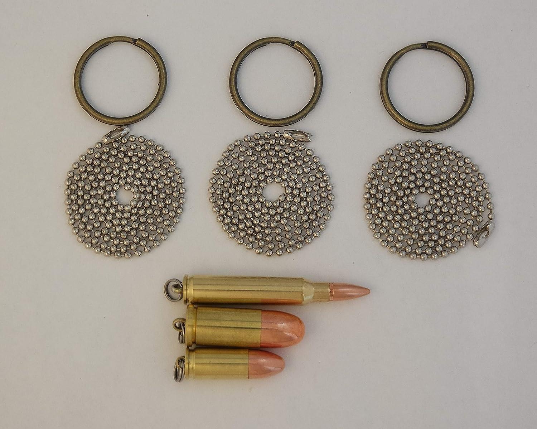 Amazon.com: Conjunto de tres colgantes de bala, Dogtag ...