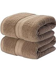TenMotion Toallas de Ducha, 100% algodón Juego de 2 Toallas de baño, 500gsm