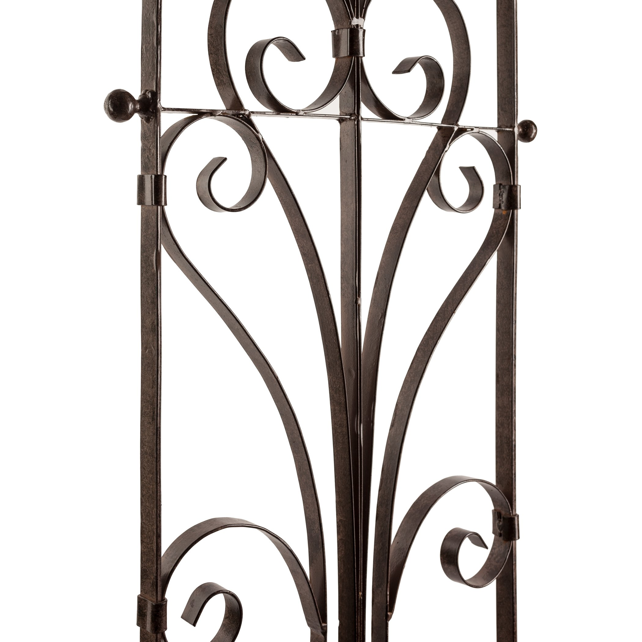 H Potter Italian Iron Garden Trellis-Durable, Elegant, Metal Trellis Lawn Decor with Powder Coat Finish- Hand Cut, Heavy Scroll Iron, Easy to Stake, No Assembly Needed, All Weather Yard Art (Large)