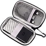 Hard Case Compatible for WD 512GB/256GB/1TB/2TB My Passport SSD Portable Storage - USB 3.1 - Black-Gray - WDBKVX5120PSL…