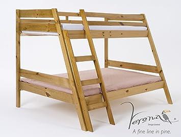 Etagenbett Dreifach : Verona design marilleva mit dreifach etagenbett kiefer antik holz