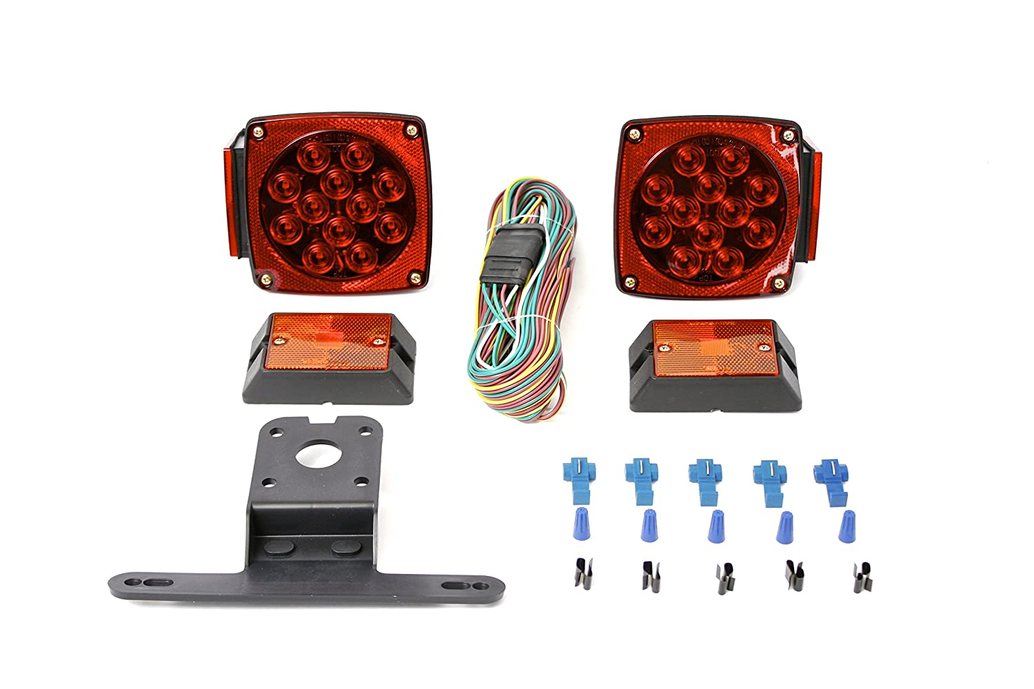 Maxxhaul 70205 12v All Led Submersible Trailer Light Kit Wiring Color Code Diagram Automotive