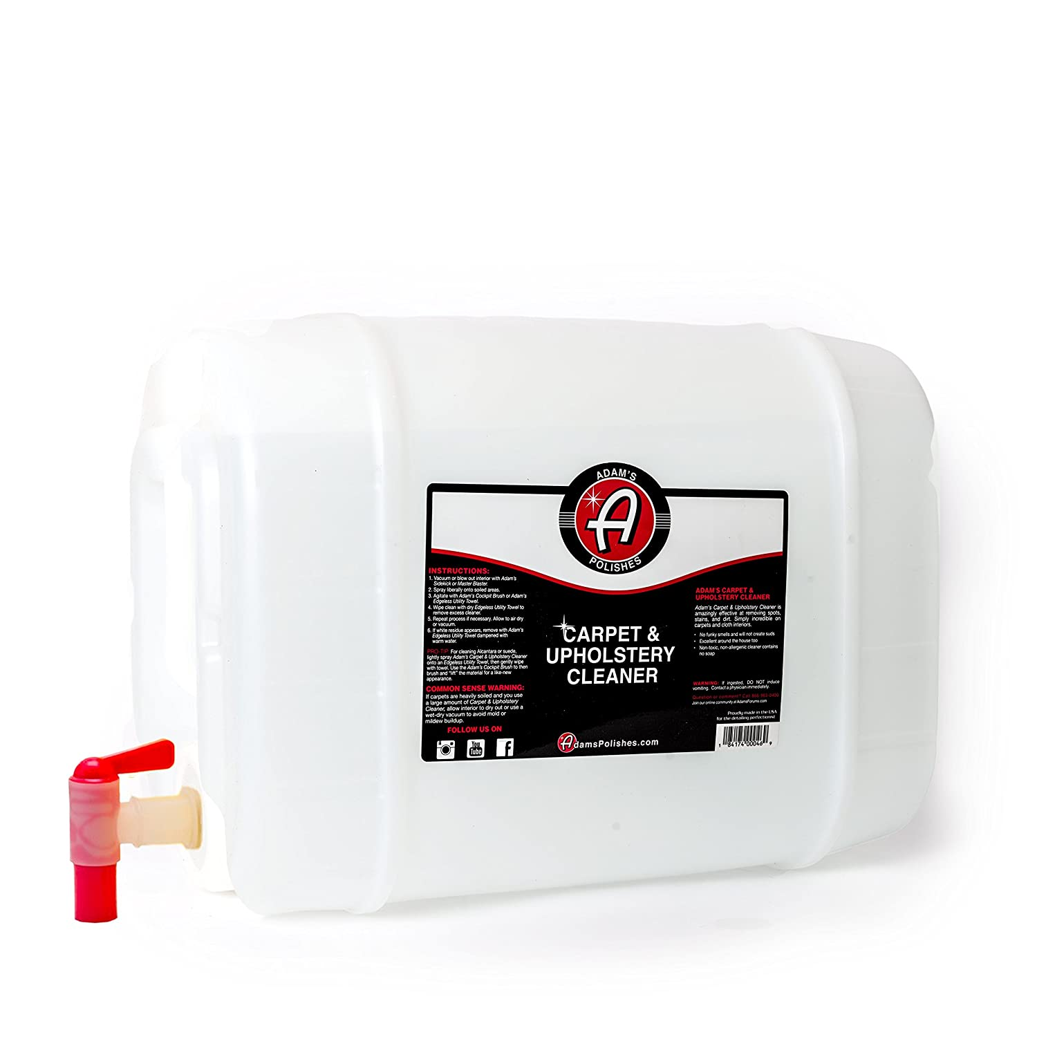 Adam's Carpet & Upholstery Cleaner 16oz - Easy to Use and Effective on Even the Worst Stains - Safe, Non-toxic and Hypoallergenic Adam' s Polishes 4332947738