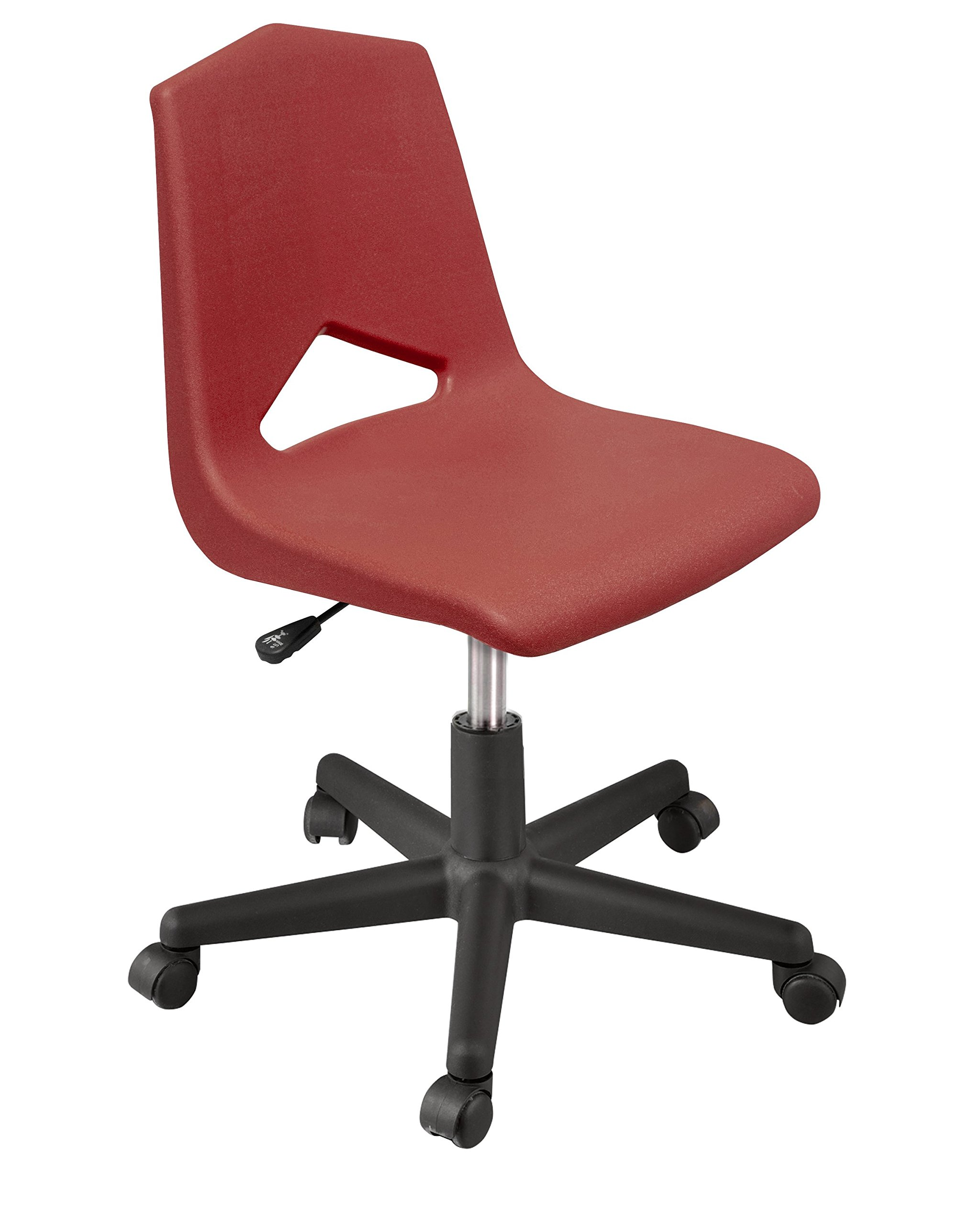 Marco Group MG1182-20BK-ABG Mg Series Adjustable Task Chair, 16''-20'', Burgandy/Black, 2''