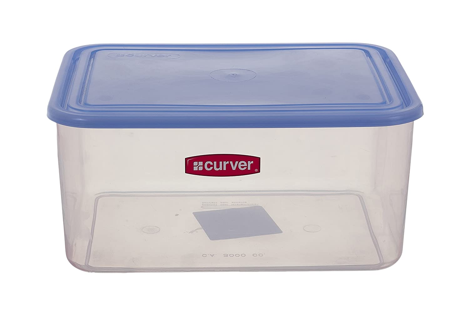 Curver Freezer-safe square plastic food storage containers with blue cover (3 L) EF500820 Amazon.co.uk Kitchen \u0026 Home  sc 1 st  Amazon UK & Curver Freezer-safe square plastic food storage containers with blue ...