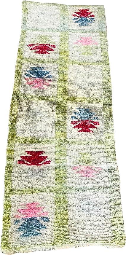 scorbis Alfombra de lana natural y tinte de raíces hecha a ...