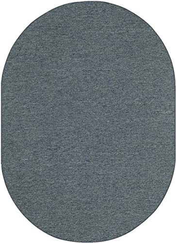 Ambiant Galaxy Way Indoor Outdoor Area Rug Petrol Blue – 8 x10 Oval Non Slip Backing