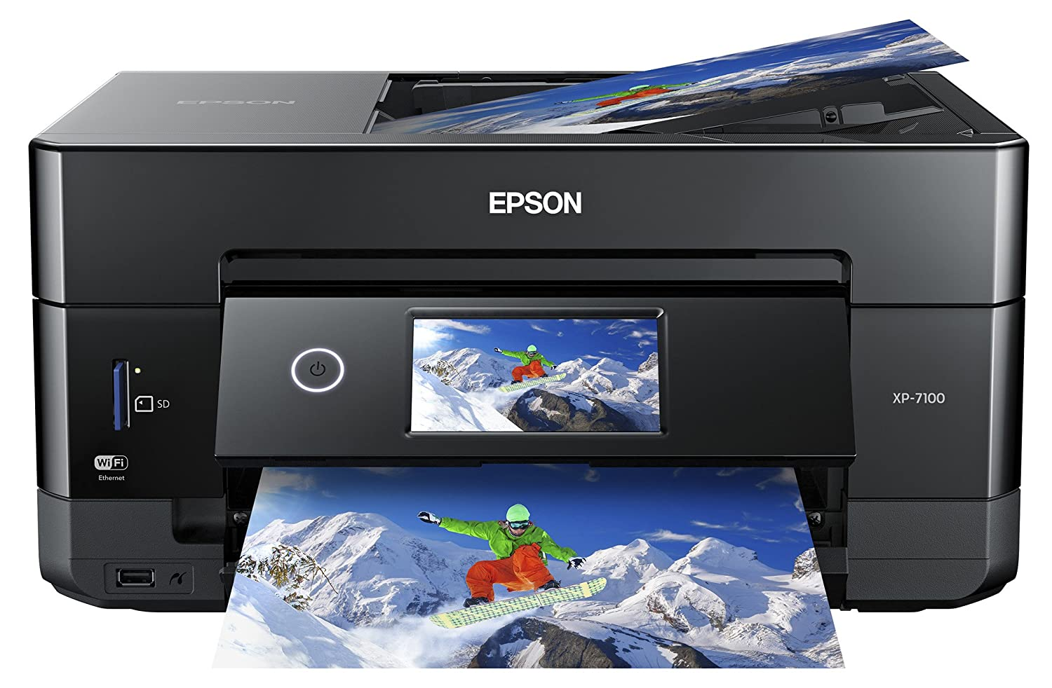 Epson XP-7100 Expression Premium Wireless Color Photo Printer, Black