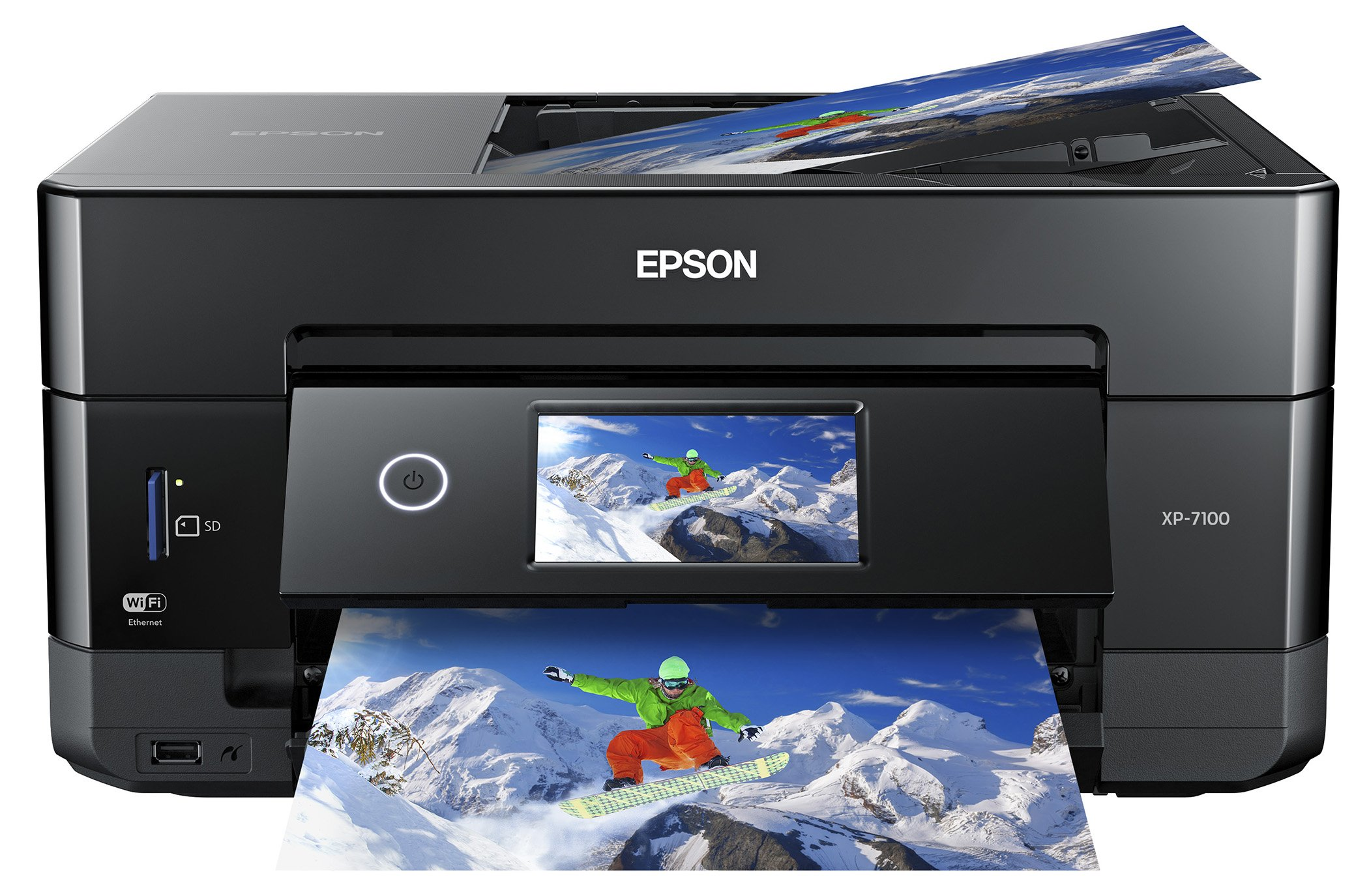Epson Expression Premium XP-7100 Wireless Color Photo Printer with ADF, Scanner and Copier (Renewed) by Epson