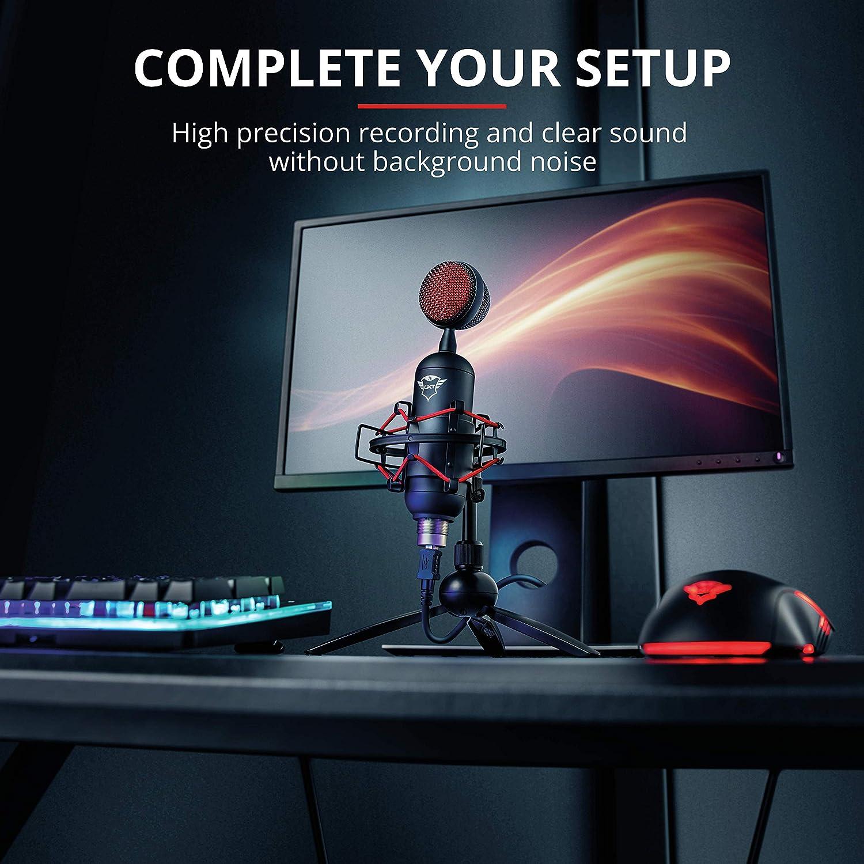 Color Negro Trust GXT 244 Buzz Micr/ófono USB para Streaming para PC y PS4