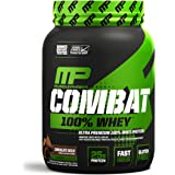 MusclePharm Combat 100% Whey – 25Gs of a Ultra-Premium, Gluten-Free, Low Fat Blend of Fast-Digesting Whey Protein for Performance, Recovery, and Muscle Building, Chocolate Milk, 2 Pound, 27 Servings