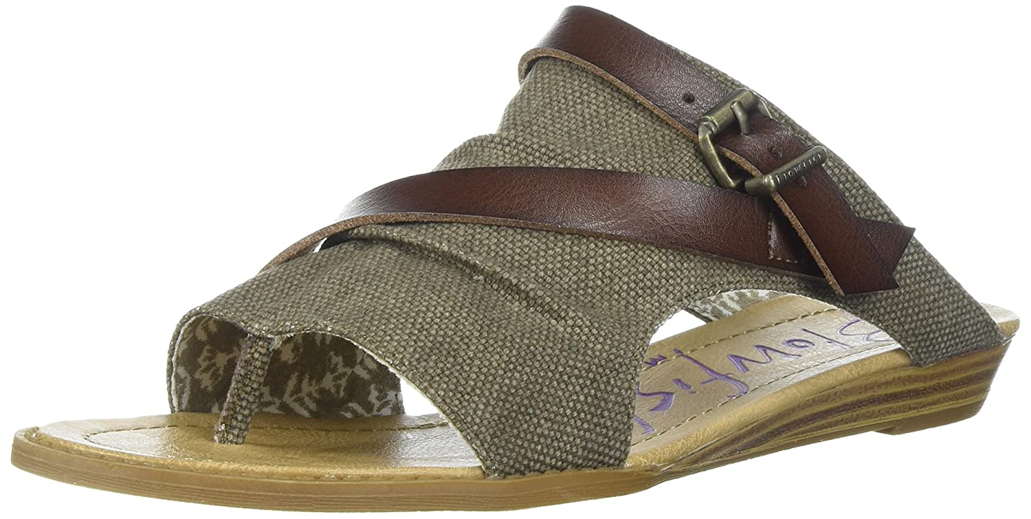 Blowfish Women's Barria Slide Sandal B07DHNQHSD 37-37 M EU / 6.5 B(M) US|Brown