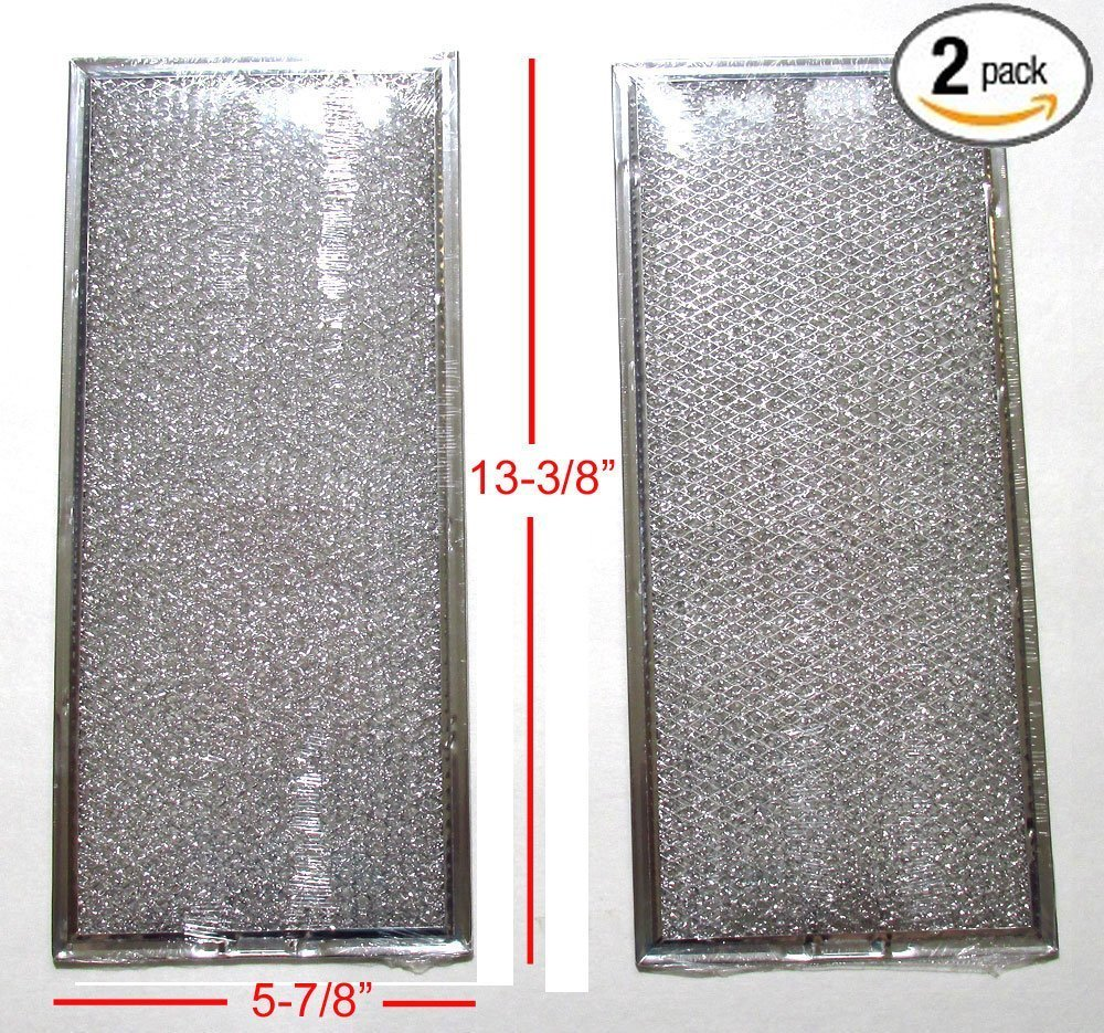 ( 2 PACK ) PS1847969 MICROWAVE GREASE FILTER ( 5-7/8'' X 13-3/8'')