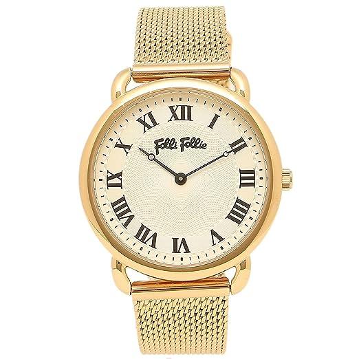 Folli Follie Reloj Brazalete Folli wf16g013bpz reloj de pulsera para mujer reloj blanco/oro amarillo: Amazon.es: Relojes