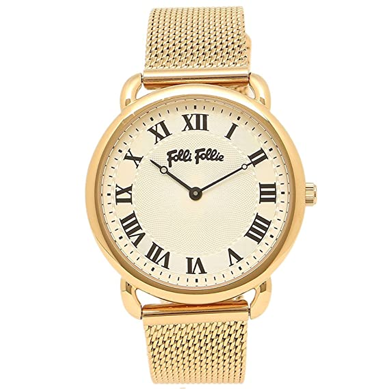 Folli Follie Reloj Brazalete Folli wf16g013bpz reloj de pulsera para mujer reloj blanco/oro amarillo