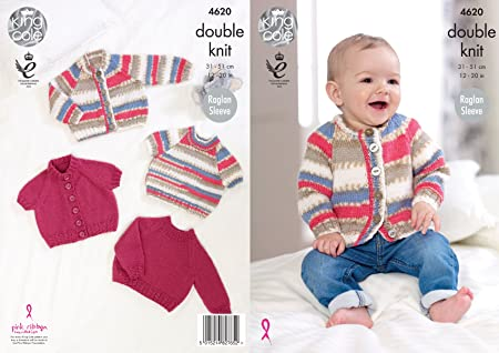 fef373b20 Image Unavailable. Image not available for. Colour  King Cole Baby DK  Knitting Pattern ...