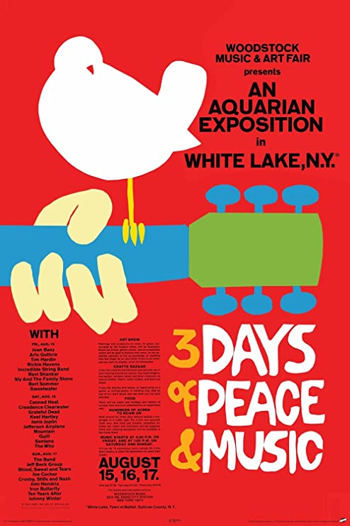 The Who Woodstock 24x36 inch rolled wall poster