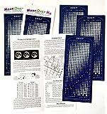 Moon Calendar 2017, Magnet, MoonMaggy - 3 Set, 3 Magnetic Calendars plus 3 Moon Over Me Almanac Information Cards