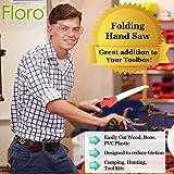 FLORO Folding Hand Saw, 7 Inches Blade, Manganese