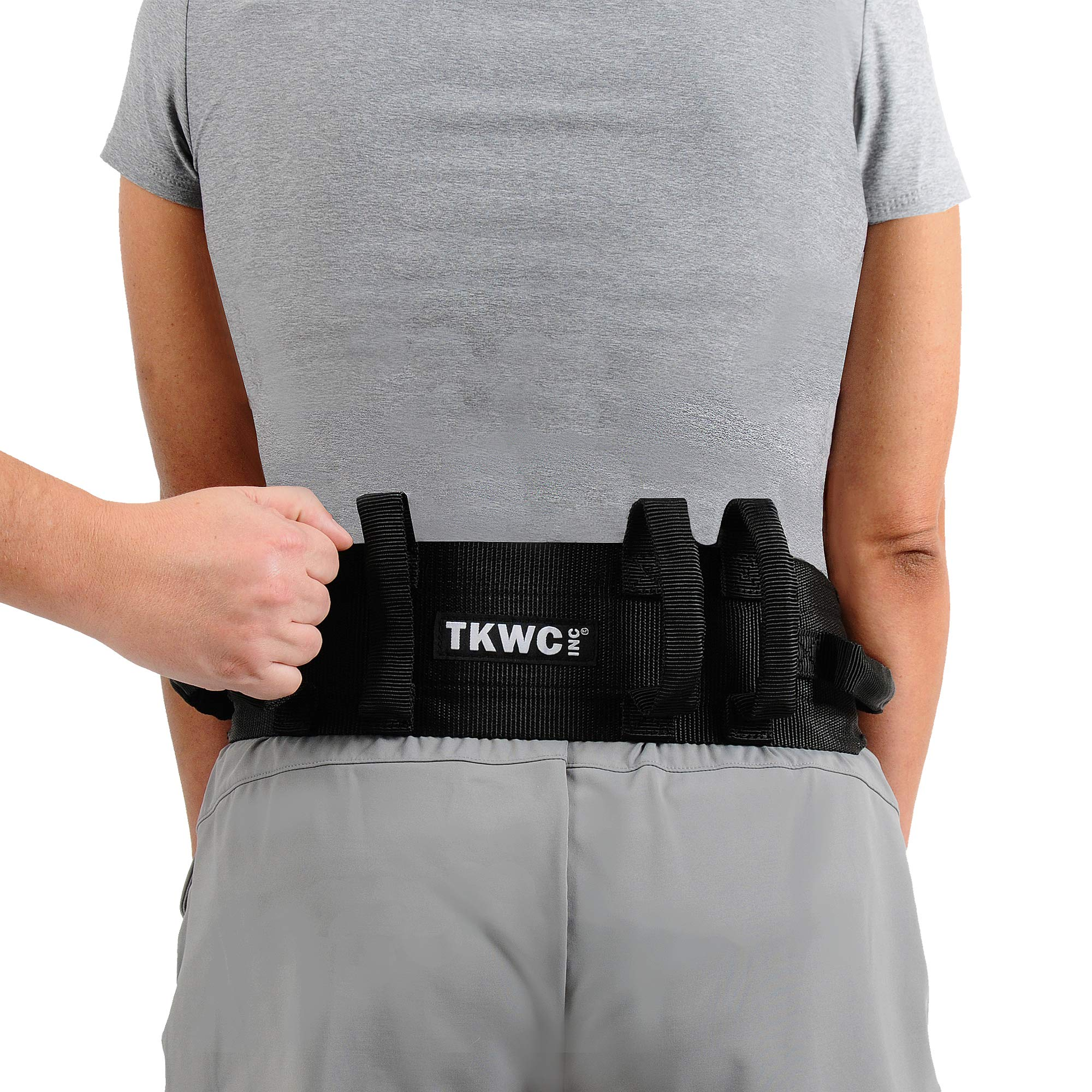 """Transfer Belt with Handles by TKWC INC - #2305 - Lift Gait Belt with Quick Release Locking Buckle Safety Gate Belt 55"""" Strap"""