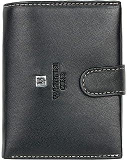 1a40181984 Valentini Gino Portafoglio in pelle morbida dal design nero verticale