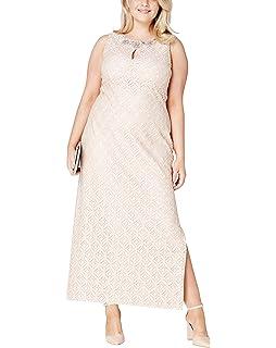 d56be8174f JD Williams Womens Joanna Hope Lace Bead-Trim Maxi Dress: Amazon.co ...