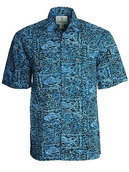9cd0d7455e40a Artisan Outfitters Mens Devocean Batik Cotton Shirt