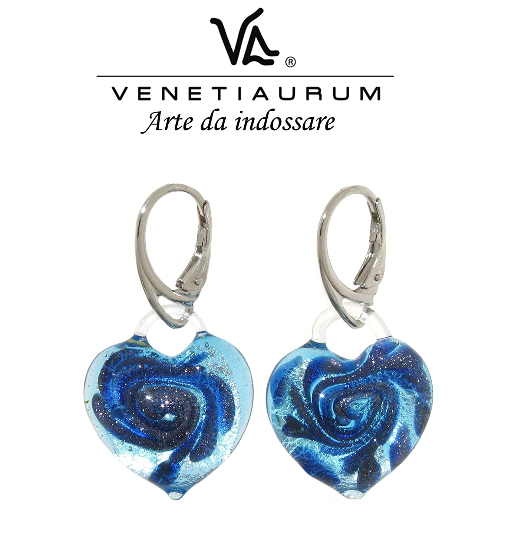 62641ed593548 Venetiaurum - Murano glass and 925 silver earrings, Made in Italy