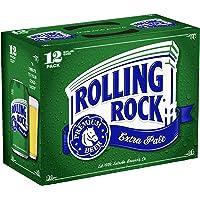 Cerveza Rolling Rock 24 pack 355ml, Estilo Extra Pale Ale, 4.4% ABV, Importada de EUA.
