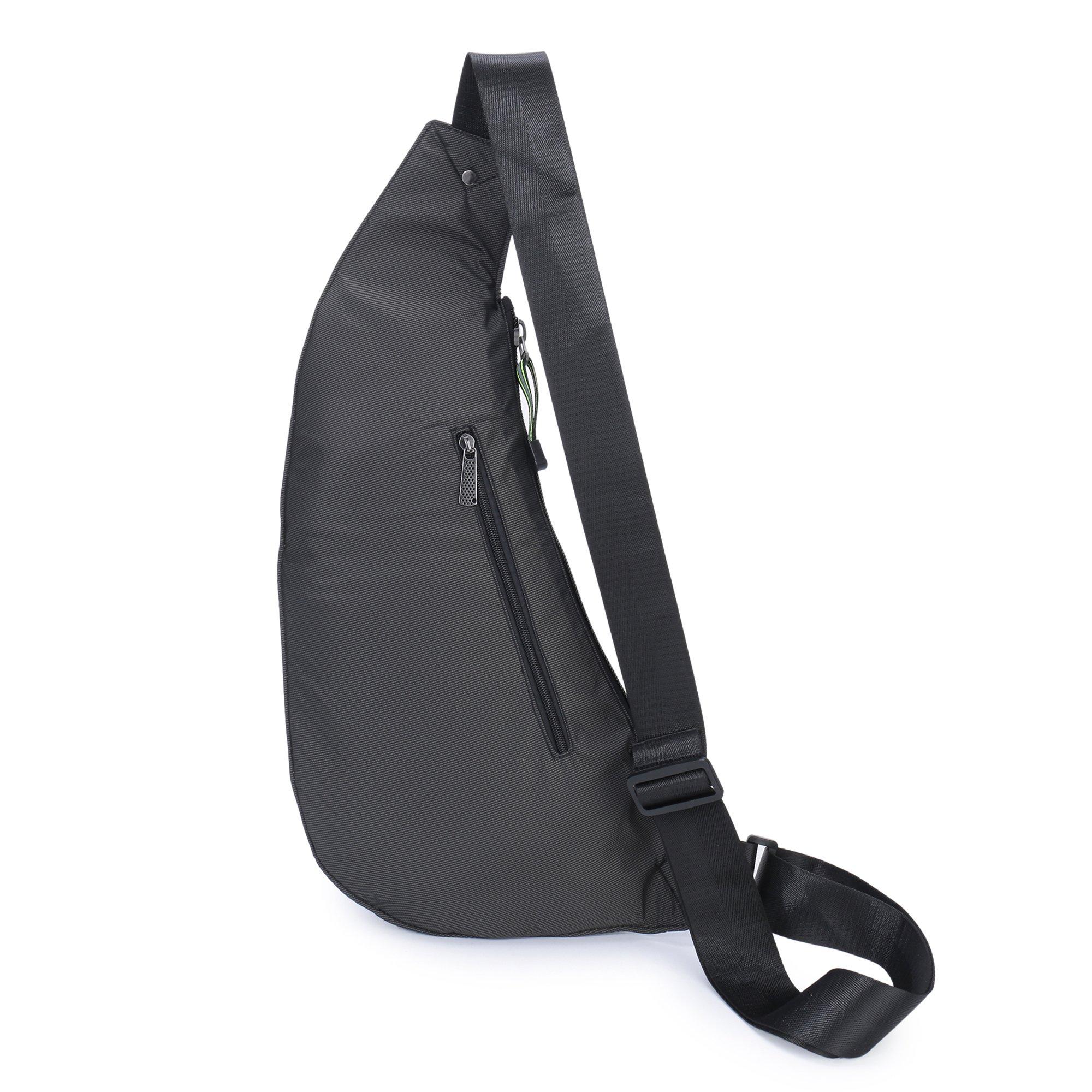 DDDH Sling Bags Shoulder Backpack Chest Pack Military Crossbody Bags For Man  Women (2627 Black) 7680e90e1b