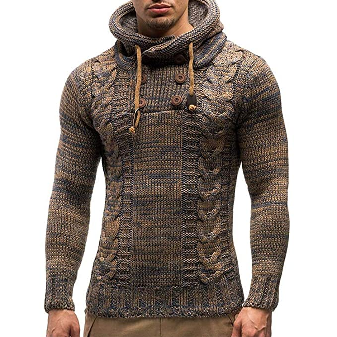 de5b9a89e 2019 New Pullover Sweaters Men s Wigeo Sweater Autumn Winter Pullovers  Knitted Cardigan Coat Hooded Sweaters Jacket