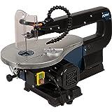 FERM Sega da traforo 90W - Incl. 10 lame e sistema soffiatore per pulizia - Adatto per legno, plastica e metalli non-ferrosi