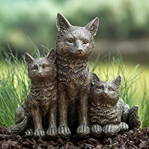 BRECK'S - Fox Family Statue - Add Charm with These Cuties to Your Garden
