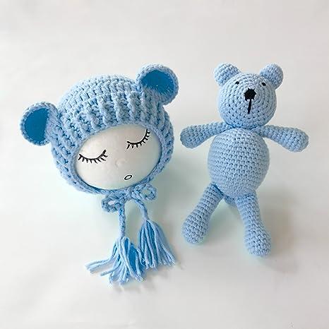 Juego de crochet para sesión de fotos de recién nacido, incluye