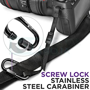 Camera Tether Safety Strap for DSLR Cameras by Altura Photo (2 Pack) (Color: Black, Tamaño: Camera Safety Tether (2 Pack))
